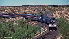 High Noon Daily Double (C.P. Kirkie) Tags: southernpacific sp passengertrain arizona spsunsetroute sunsetlimited sunset sunsetroute amtrak trains railroads desertrailroad amtk