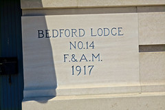 Masonic Lodge, Bedford, IN (Robby Virus) Tags: bedford indiana in masonic lodge masons freemasons fam dunn memorial temple cornerstone inscription 1917 fraternal organization