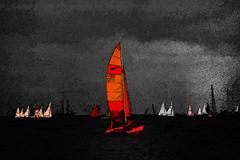night sail (j.p.yef) Tags: peterfey jpyef yef sailboats sailingboats balticsea boatrace yachtrace regatta night dark darkness germany kiel