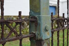"""Idleness is to the human mind like rust to iron"". - Ezra Cornell (Maria Luiza S) Tags: rust ferrugem iron ferro fence cerca"