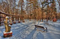 Winter im Kurpark...Winter in the park (kh goldphoto) Tags: 2013 badlausick kurpark kurstadt sachsen winterschlaf best panoramio138237085980945 rosengarten musikantengruppe putten