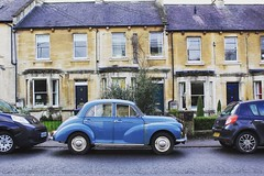 Classic cars are pretty 🚙 (shanicelilburn) Tags: bluecar ohsoretro style village photography history beautiful canon classic car pretty beginnerphotographer carphotography morrisminor vintage classiccar