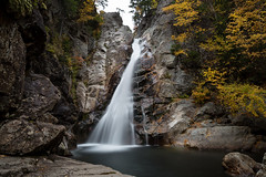 Glen Ellis Falls II (Bob90901) Tags: glenellisfalls jackson newhampshire waterfall longexposure filter neutraldensity landscape autumn afternoon rpg90901 canon 6d canonef2470mmf28liiusm lee bigstopper nd10 water rock foliage 2016 october 1417 newengland
