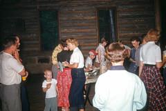 Folk Dance Club picnic LMU - Bartlett Park Middlesboro KY June 1954.jpg (buddymedbery) Tags: middlesboro 1954 unitedstates kentucky years 1950s