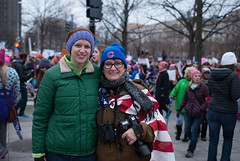 Laura and Katie at the Women's March in D.C. (Laura Erickson) Tags: people katie womensmarch laura dc places family washingtondc