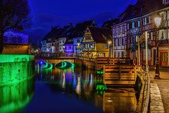Green Eyeshadow.... (kanaristm) Tags: green eyeshadow colmar france europe blue hour water ill pink purple gray grey brown gold red yellow orange aqua buildings old bridge street cobblestone timber house wood tmkanaris tmk tkanaris kanarist kanaristm kanaris foto photo photography copyrighttmkanaris copyrightkanaristm nikon
