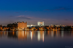 IMG_0905 (roy.emailid) Tags: city blue water night canon landscape 50mm lights long exposure cityscape tamron kolkata skay