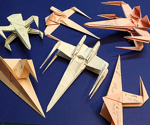 Folding Guide Parts Of The X Wing Fighter Origami High Grade Version