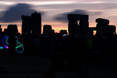 Dawn's arrival (I.M.W.) Tags: uk blue light sky orange night solstice stonehenge wiltshire stonecircle summersolstice