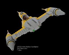Star Wars LEGO 75092 Naboo Starfighter (KatanaZ) Tags: starwars lego r2d2 minifigs obiwankenobi anakinskywalker minifigures naboostarfighter battledroids naboopilot battledroidcommander lego75092