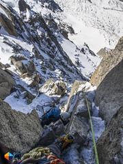 Going down (HendrikMorkel) Tags: mountains alps mountaineering chamonix alpineclimbing arêtedescosmiques arcteryxalpineacademy2015