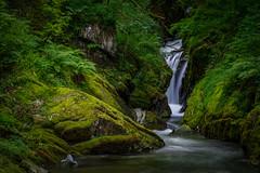 Nant Gwernol Waterfall, Abergynolwyn, Wales (christaff1010) Tags: uk longexposure green water wales river landscape waterfall unitedkingdom britain snowdonia gwynedd abergynolwyn
