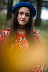Primadonna (Lucas Gramatica Photography) Tags: blue red portrait blackandwhite hat fashion 50mm nikon women sister moda jersey highkey 18 embalse primadonna d3100