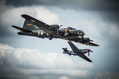B17G and P51-D Mustang Escort (hxsaint08) Tags: flying wwii airshow b17 legends ww2 mustang bomber fortress escort p51 p51d flypast b17g