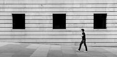 3&1 (fernando_gm) Tags: madrid street people blackandwhite bw man blancoynegro 35mm ventana nikon gente geometry tres simple hombre geometría d7000 simpliticy