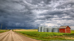 Into the Storm (westrock-bob) Tags: summer copyright canada storm color colour weather canon landscape eos ab alberta crop weathered thunderstorm prairie agriculture plains gravel gravelroad 6d threehills severestorm canon6d kneehillcounty canoneos6d bobcuthillphotographygmailcom bobcuthill