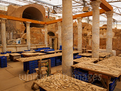 Giant jigsaw puzzle (whitworth images) Tags: old travel house building heritage history archaeology stone turkey tile ancient ruins asia pieces roman mosaic columns indoor puzzle restoration marble selcuk ephesus terracehouses selçuk excavated historicsite