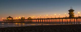 In Huntington Beach Jetty Pier.