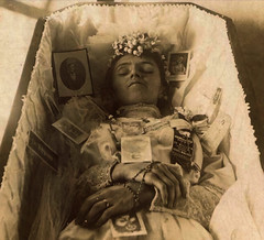 In Repose (Midnight Believer) Tags: coffin casket death funeral wake deceased portrait cabinetcard unknown retro 1890s 19thcentury victorian corpse dead