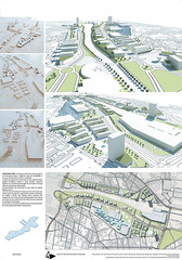 Milos Ilic, Master plan for the area of Poznan railway station, concept design for Office building, Poznan, 2014.