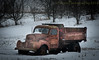 Magical (HTT) (13skies) Tags: happytruckthursday thursday hdrthursday truck highway5 highdynamicrange selectedcolour old vintage abandoned relic decay derelict heap cold winter snow