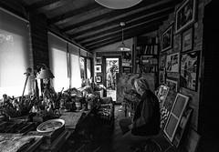 """ Forbidden zone "" (pigianca) Tags: analog monochrome blackwhite portrait painter leicam6 voigtlanderheliar15mmf45iii"