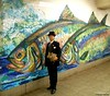 Dr. Takeshi Yamada and Seara (Coney Island sea rabbit) at the Delancey subway station, F line in Manhattan, New York on September 15, 2016.  20160915Thu. DSCN8013=P2030C1. Delancey subway station, F, mural, fish (searabbits23) Tags: searabbit seara takeshiyamada 山田武司 taxidermy roguetaxidermy mart strange cryptozoology uma ufo esp curiosities oddities globalwarming dragon mermaid unicorn artist alchemy entertainer performer famous sexy playboy bikini fashion vogue goth gothic vampire steampunk victorian barrackobama billclinton sideshow freakshow star king pop god angel celebrity genius amc immortalized tv japanese asian mardigras google yahoo bing aol cnn coneyisland brooklyn newyork leonardodavinci damienhirst jeffkoons takashimurakami vangogh pablopicasso salvadordali waltdisney donaldtrump hillaryclinton subway
