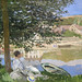 Claude Monet, On the Bank of the Seine, Bennecourt, 1868