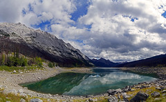 20160906_082pa (mckenn39) Tags: nature water lake canada alberta jaspernationalpark medicinelake rockymountains canadianrockies