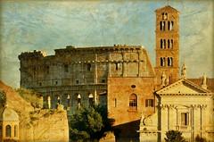 La città eterna (Aránzazu Vel) Tags: roma colosseo fororomano cittàeterna textura texture architecture architettura arquitectura ciudad city