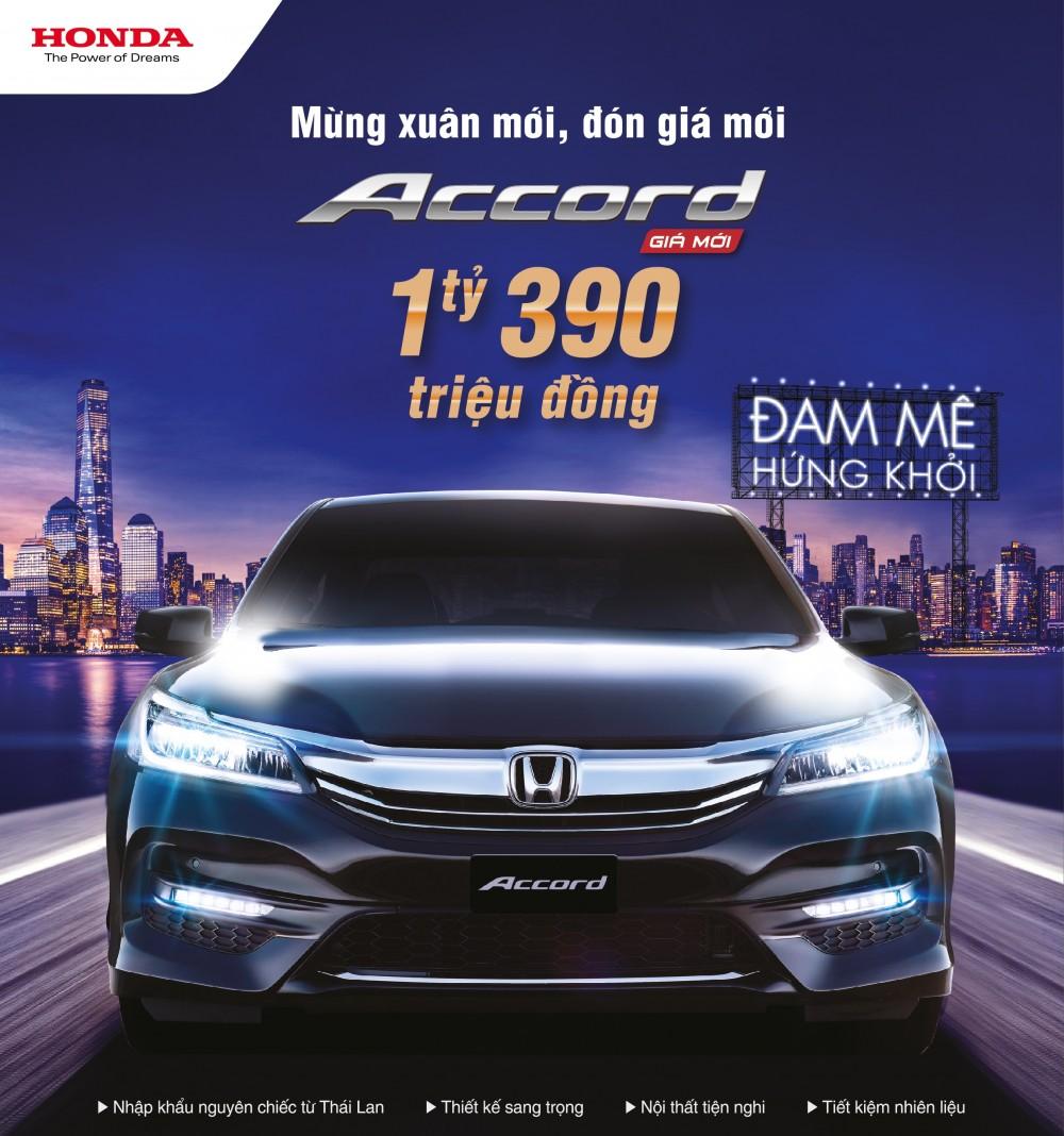 Honda Việt Nam công bố giá mới hấp dẫn cho Accord từ tháng 1/2017 cùng chương trình khuyến mại cho Odyssey trong tháng 1/2017!