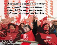 Noi della Cgil siamo contro i voucher (SatiraItalia) Tags: cgil pensionati voucher