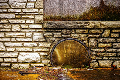 Semi-Circle (Jae at Wits End) Tags: circle circling abandoned decay architecture stone wall rust shape circular arc corroded corrosion curve decayed discarded forgotten forsaken metal neglected old oxidation oxidized patina rejected rock round rusty
