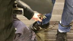 Shackling (asiancuffs) Tags: handcuffs handcuffed arrest arrested shackles shackled inmate prisoner