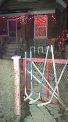 Typical Canadian house (scienceduck) Tags: christmas summer toronto ontario canada hockey lights christmaslights tdot hockeystick 2015 scienceduck