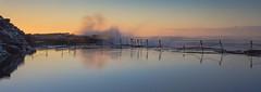 Splash (ImagesByLin) Tags: brown sunrise reflections newcastle splash swell bogeyhole oceanpool oceanbaths