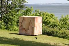 Skin Cube (Benny Hünersen) Tags: sea sculpture art june juni by skin kunst louise cube sculpturebythesea sculptures aarhus sculpturesbythesea århus 2015 skulpturer sparre louisesparre