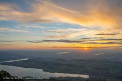 On mount Rigi - Switzerland (Werner_B) Tags: light sunset orange sun mountain alps nature clouds dawn schweiz switzerland evening abend sonnenuntergang outdoor swiss gelb dmmerung sonne stimmung abendstimmung rigi d600