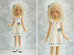 Outfit for Kaye Wiggs MSD (Maram Banu) Tags: white outfit doll dress bjd layla sunkissed msd kayewiggs fairystyle marambanu