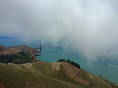 Golden Gate from Hawk Hill (phoca2004) Tags: fog ggnra sausalito marincounty marinheadlands hawkhill goldengatebridge goldengatestrait