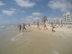 Football match at The beach!