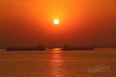 The sun in China (frankiejeanie) Tags: world china travel sunset red sky sun canon river photography asia sailing ship outdoor wheat ships vessel cargo redsky underway yangzte traveltheworld 70d canonphotography yangzteriver canoneos70d eos70d seetheworldfree