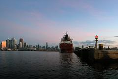 Spruceglen (Michael Mitchener) Tags: toronto sunrise paddle canoe nessie shipchannel portlands