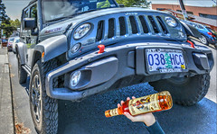 Jeep Rubicon & Captain Morgan (swong95765) Tags: distortion jeep booze parked macho captainmorgan imagery rubicon