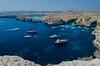 Tourists have arrived (makromat1) Tags: water azure malta bluelagoon comino blauelagune azurblau crystallagoon kristalllagune