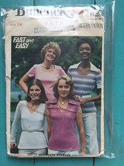 Butterick 4614 (kittee) Tags: kittee vintagesewing sewing vintagepatterns butterick butterick4614 4614 duplicate nodate 1970s fastandeasy tee tshirt pullover stretchknits collar shortsleeves longsleeves topstitchtrim misses size14 sewingpattern vintage pattern