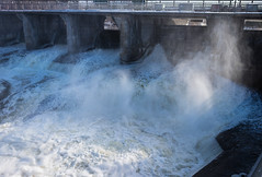 Hog's Back Spillway (christopherdeacon) Tags: afternoon outdoors river waterfall winter