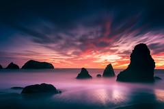 After Dark Sunset (thefatrobot) Tags: clouds rodeo beach rocks water ocean dark night sunset color seascape landscape longexposure california bayarea nature reflection nikon