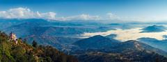 Nagarkot Panorama (Iftakhar Hasan) Tags: nepal nagarkot thehimalayas mountainrange morning clouds landscape panorama hills canon canoneos7d canonefs18135mmf3556is
