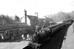 2682-20 (Ian R. Simpson) Tags: 2682 princess bagnall steam locomotive train lakesidehaverthwaiterailway loco engine bw